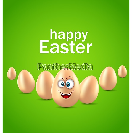 happy easter card with funny egg