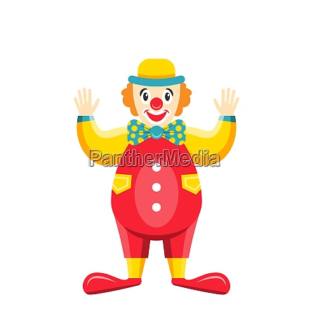 cartoon clown isolated on white background