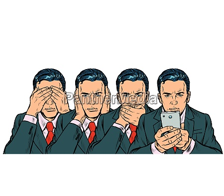 not see say look smartphone communication