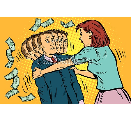 money demand the wife shakes her