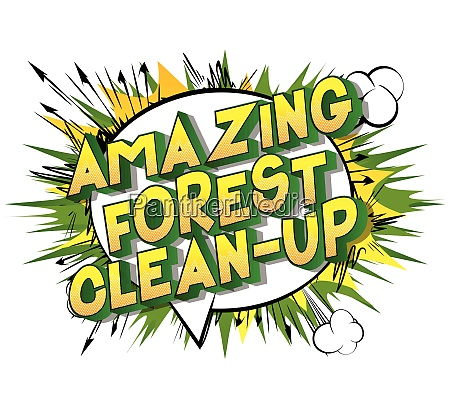 amazing forest clean up comic