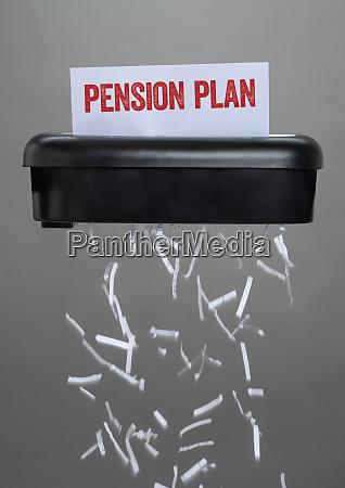 a shredder destroying a document