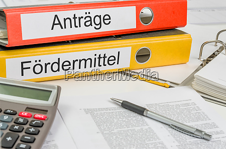 folders with the german label antraege