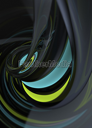abstract shiny swirl pattern