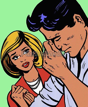 woman anxious about upset boyfriend