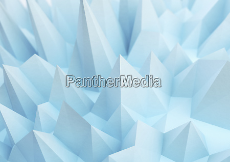 abstract blue spiked surface