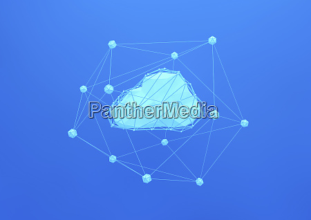 geometric cloud connected to network