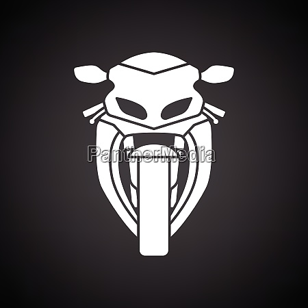 motorcycle icon front view