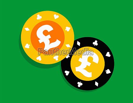 pound gambling chips
