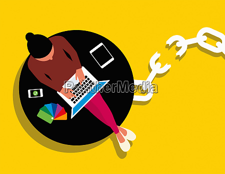 wireless technology freeing creative woman from