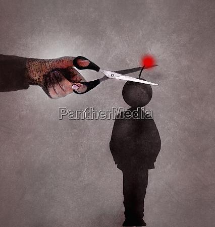 hand cutting fuse on teenage boys