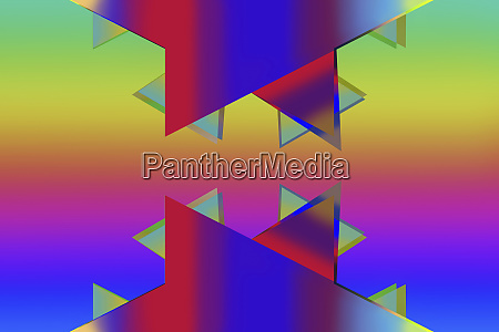 abstract brightly coloured jagged shapes