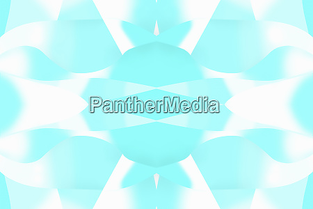abstract turquoise symmetrical pattern