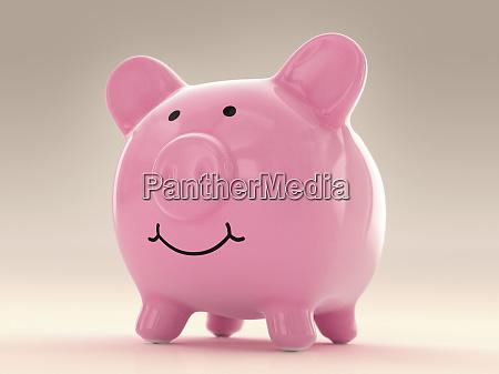 happy fat piggy bank