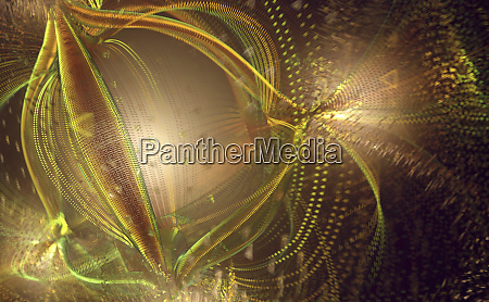chaotic tangled abstract pattern