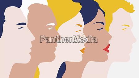 profiles of young men and women