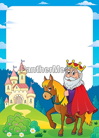 king on horse theme frame 2