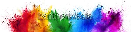 colorful rainbow holi paint color powder