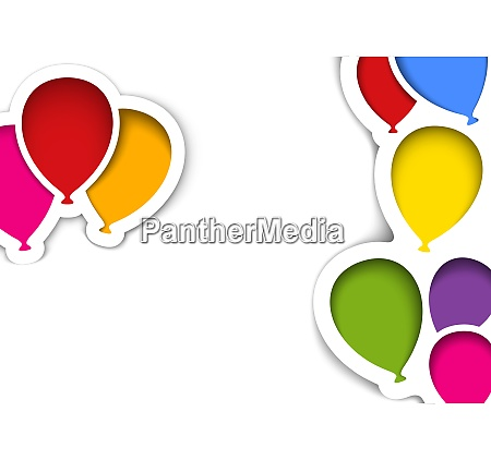 party balloons in cut out style