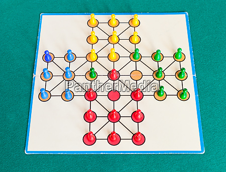 gameplay of solitaire board game on