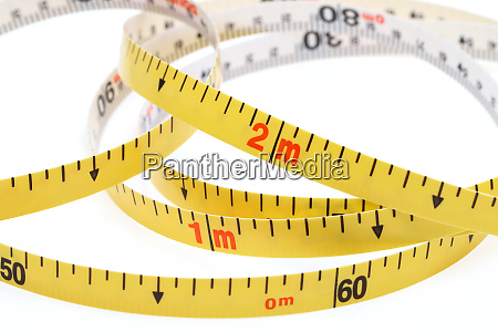 industrial measuring tape surveying isolated on