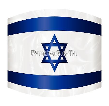 israel star of david flag distorted