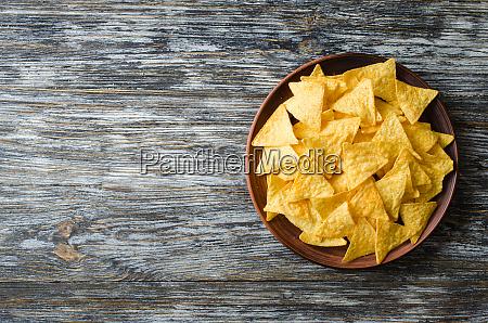 nachos corn chips in a plate