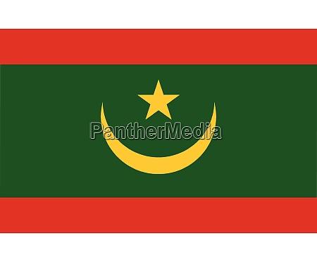 mauritania national flag