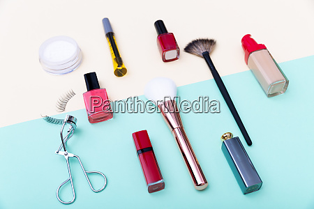 decorative cosmetics makeup products and brushes