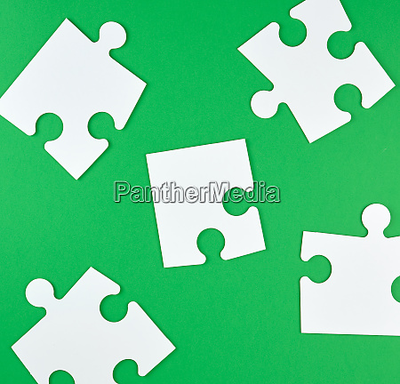 white big puzzles on a