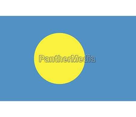 national flag of palau