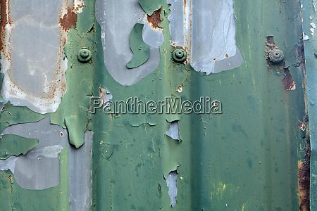 old green corrugated sheet iron
