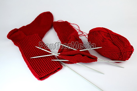 self made cotton socks isolated on