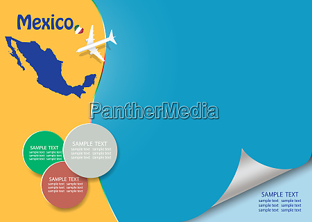 travel mexico template vector with page