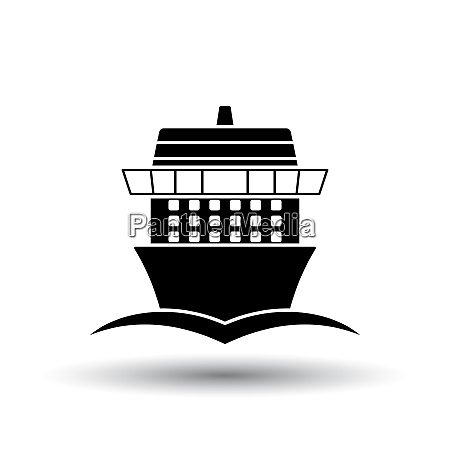 cruise liner icon front view