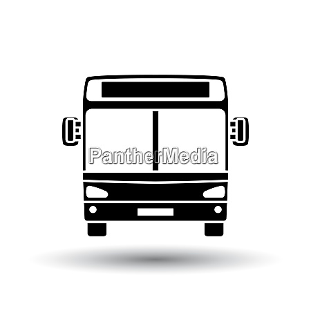 city bus icon front view