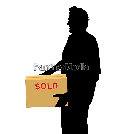 happy buyer carrying something purchased and