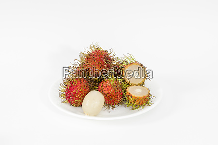 rambutan fruits on a white background