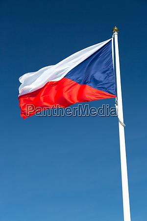 flag of the czech republic close