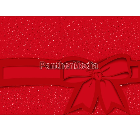 red festive background with bow and