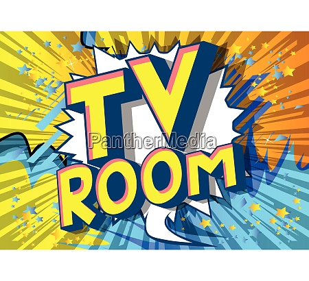 tv room comic book style