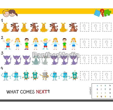 educational pattern task for children