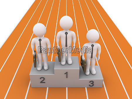 businessmen are on podium after the