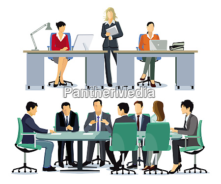 discussion and panelof business men