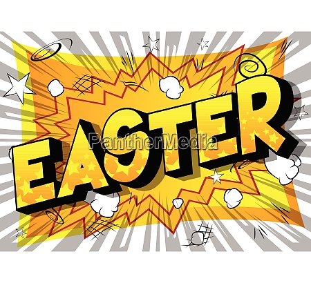 easter comic book style phrase