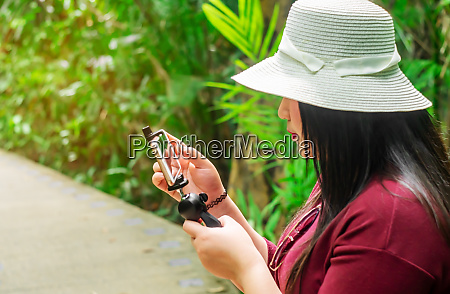 women with smart phone mobile on