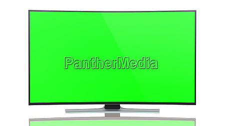 ultrahd smart tv with curved green