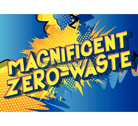 magnificent zero waste comic book