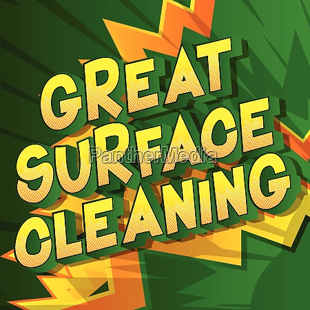 great surface cleaning comic book