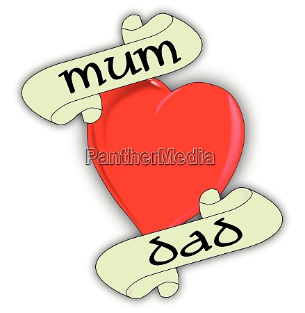 mum and dad heart